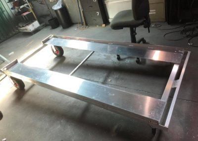 Aluminium-Hospital-Bed-Loading-Trolley-Castors
